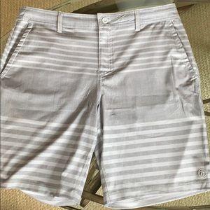 HANG TEN~ NEW 34 gray striped tie waist men's